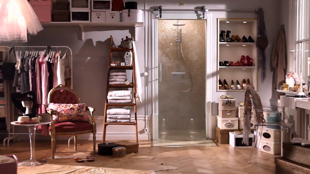 Kast met douche schuifdeur glazen deur inr youtube - Schuifdeur deur ...