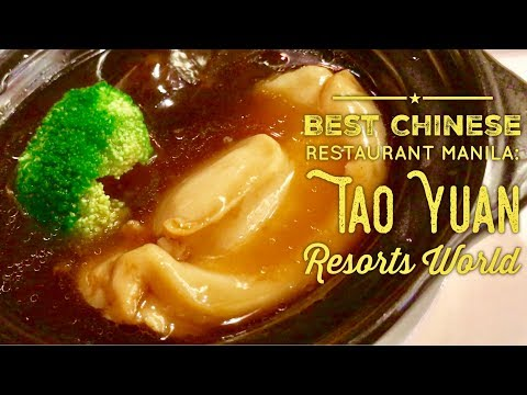 Best Chinese Restaurant Manila: Tao Yuan Resorts World Shark's Fin, Abalone, Peking Duck