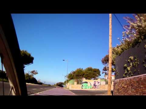 Cycling CasCais Portugal Riding a BICAS free rental bike from Caiscais to Boca do inferno