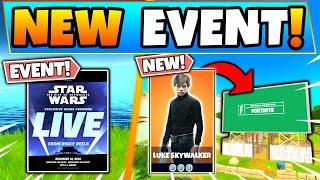 Fortnite STAR WARS EVENT REVEALED! LIVE Trailer, Skins, and Galileo Changes! (Battle Royale Update)