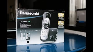 Panasonic KX TG6811 cordless phone Unboxing and Review