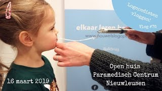 Logopedievlog 🗣 | Open dag Paramedisch Centrum Nieuwleusen | Vlog #76