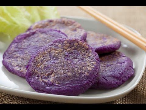 【楊桃美食網-3分鐘學做菜】紫山藥煎餅HD - YouTube
