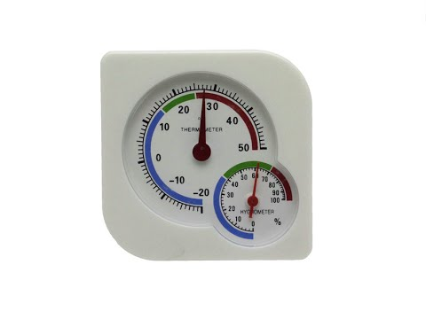 Комнатный термометр с алика - YouTube