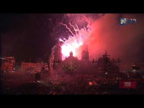 Bicentenario Independencia México - Espectáculo pirotécnico y multimedia en el zócalo HD