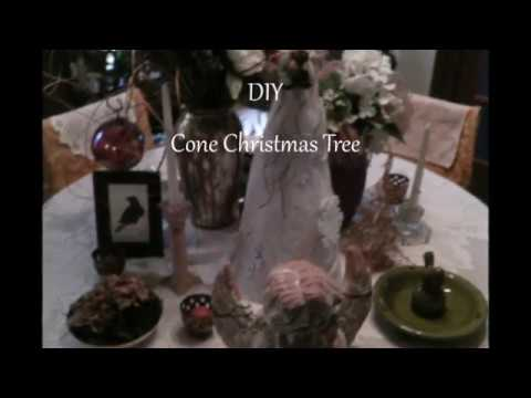 The Easiest DIY Cone Christmas Tree Craft Decorations in no time!