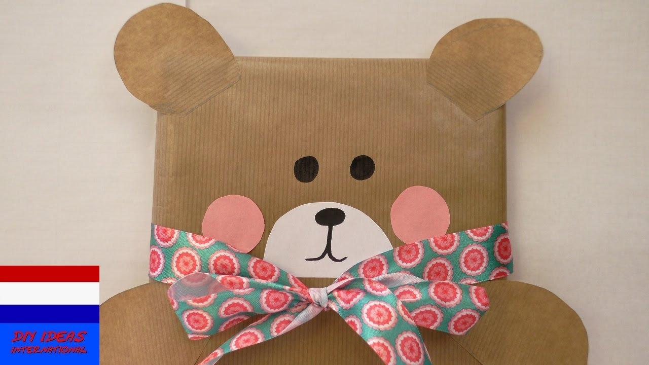 Iets Nieuws schattige cadeauverpakking in beervorm | cadeau inpakken voor @HK68