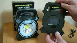 Обзор светодиодных переносных фонарей Cob Work Light