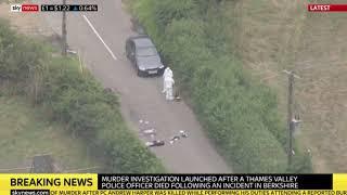 Police officer murdered attending burglary in Berkshire.
