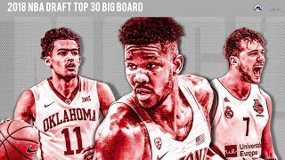 2018 NBA Draft Top 30 Big Board 👀 🏀