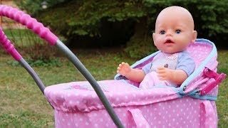 Reborn Baby Doll Outing: A Stroller for Baby Annabell Doll - Baby Born Doll Videos