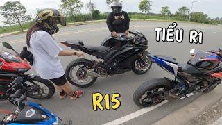 Cô gái cá tính xách Yamaha R15 thần thánh qua khè Thiện Red