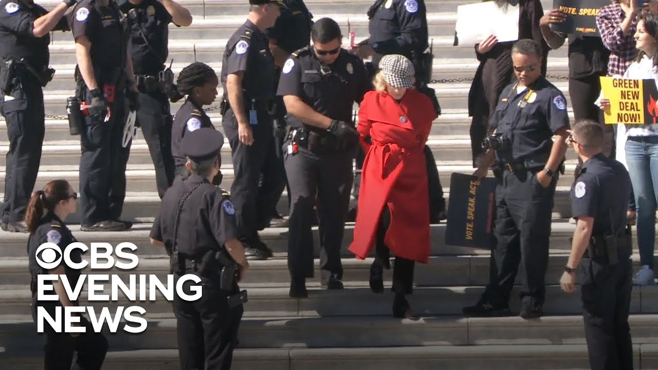 Jane Fonda Arrested During Climate Protest Outside US Capitol