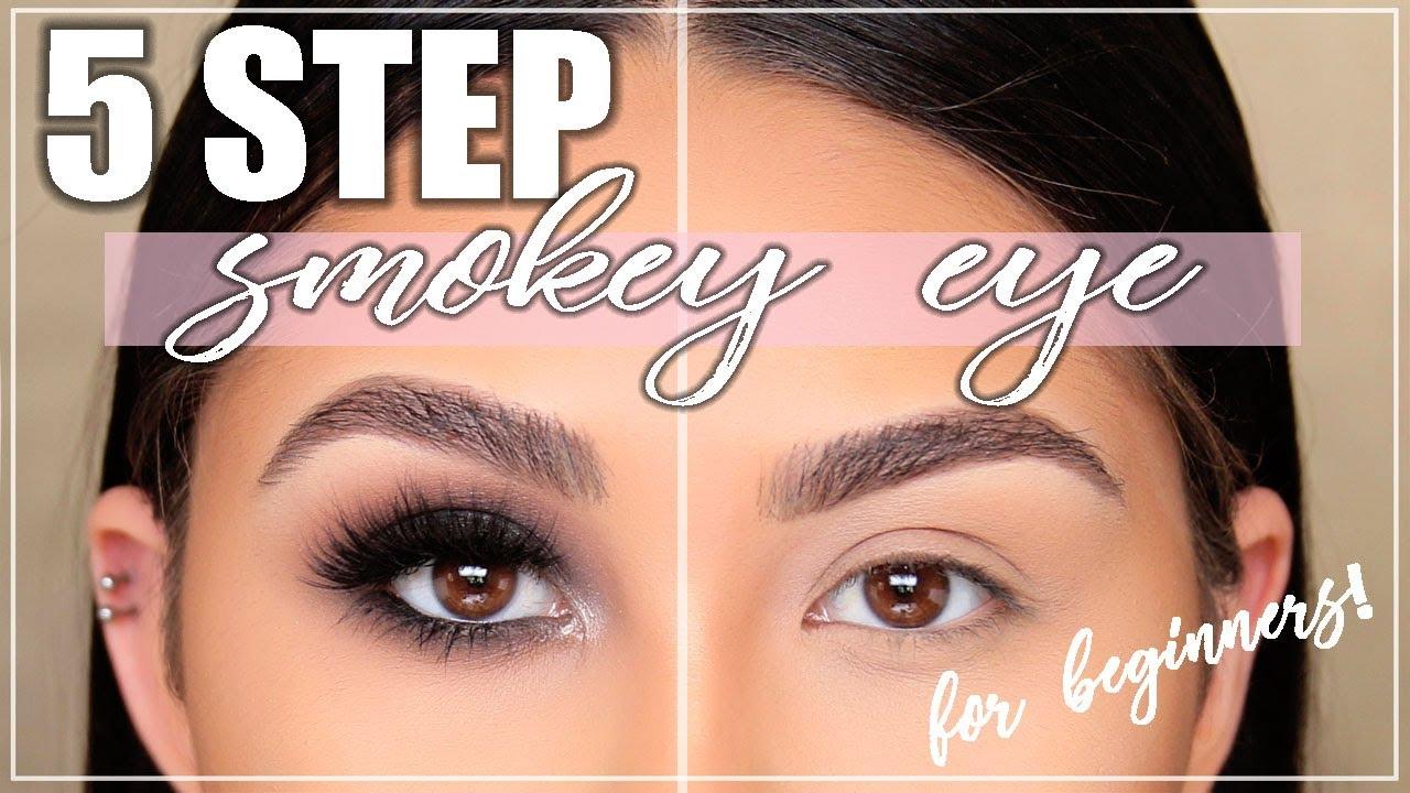 perfect smokey eye in 5 steps?! smokey eye tutorial for beginners