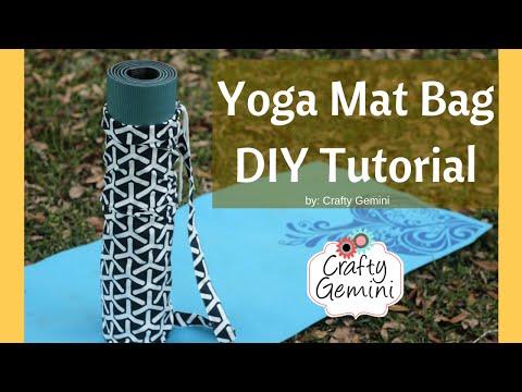 Yoga Mat Bag Diy Sewing Tutorial Youtube