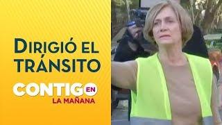 Evelyn Matthei dirigió el tránsito en Providencia - Contigo en La Mañana