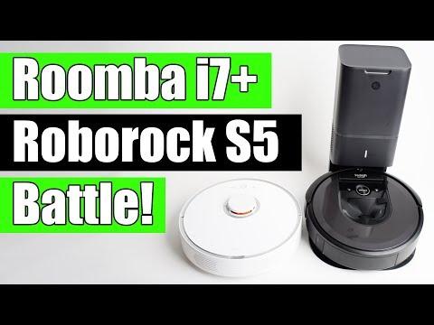 Roomba i7+ vs Roborock S5 (S50) - Robot Vacuum Battle!