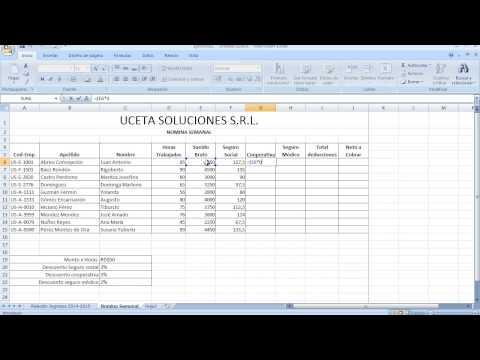 Como Liquidar Una Nomina En Excel 2018