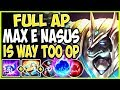 FULL AP MAX E NASUS IS WAY TOO OP FOR THEM TO HANDLE! LoL TOP AP Nasus vs Jarvan Season 9 Gameplay