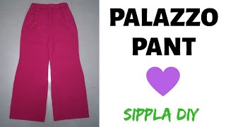 Simple Palazzo pant - cutting & stitching !!