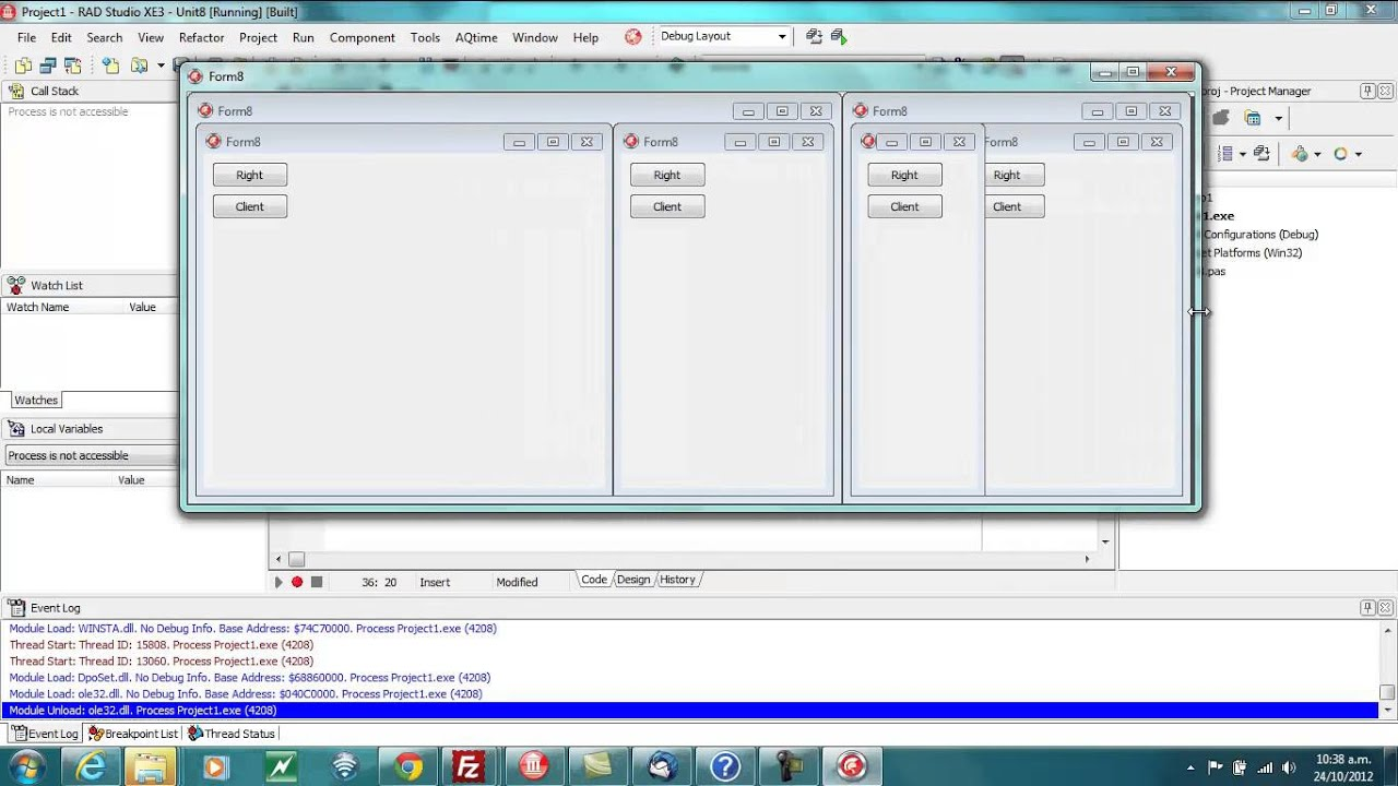 Delphi Programming Tutorial #81 - Anchors and Alignment on Forms