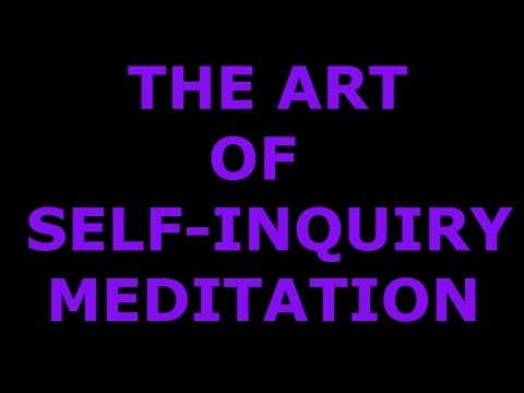 Ramaji The Art of Self Inquiry Meditation Ramana Maharshi Non-Duality Advaita Satsang Dialog