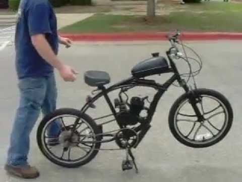 Homemade Motorbike With 80cc Motor Attached Gas Powered Bike