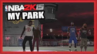 My Park NBA 2K15 - MICROPHONE CHEESE! - NBA 2K15 My Park 2 on 2 Gameplay