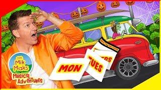 Halloween Days Of The Week | Educational Kids Songs and Nursery Rhymes | The Mik Maks