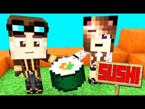 Costruiamo un ristorante sushi su minecraft!! - casa di minecraft live