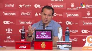 Rueda de prensa de Sergi Barjuan tras el RCD Mallorca vs Nàstic (0-0)