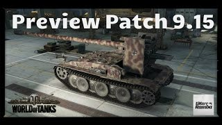 World of Tanks - Testserver 9.15 | Preview der Funktionen + HD Panzer [ German / Deutsch ]
