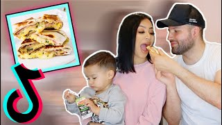 TRYING TIKTOK VIRAL QUESADILLA OMELETTE FOR BREAKFAST *LIFE CHANGING*