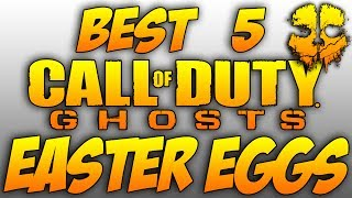 BEST 5 'COD GHOSTS' Easter Eggs! (Call Of Duty Ghosts TOP Five Easter Eggs)
