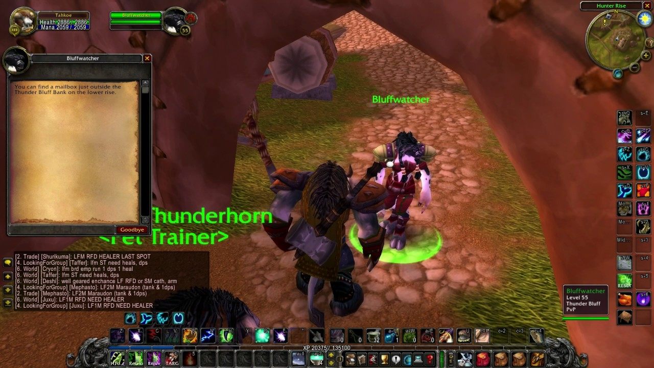 Where Is The Pet Trainer Of Thunder Bluff Vanilla Wow Elysium Youtube