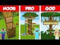 Minecraft NOOB vs PRO vs GOD: JUNGLE TREE HOUSE BUILD CHALLENGE in Minecraft / Animation