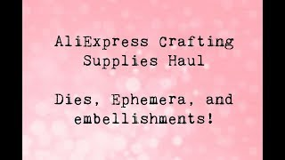 Aliexpress Craft Haul | Round 2 | Received a Mystery Item?