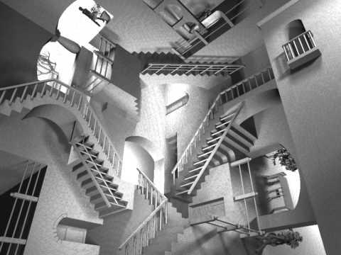 Animation of MC Escher's Relativity