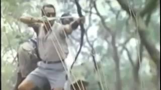 Gambar cover león cazado con Arco ataca y lanza un zarpazo que hiere al cazador