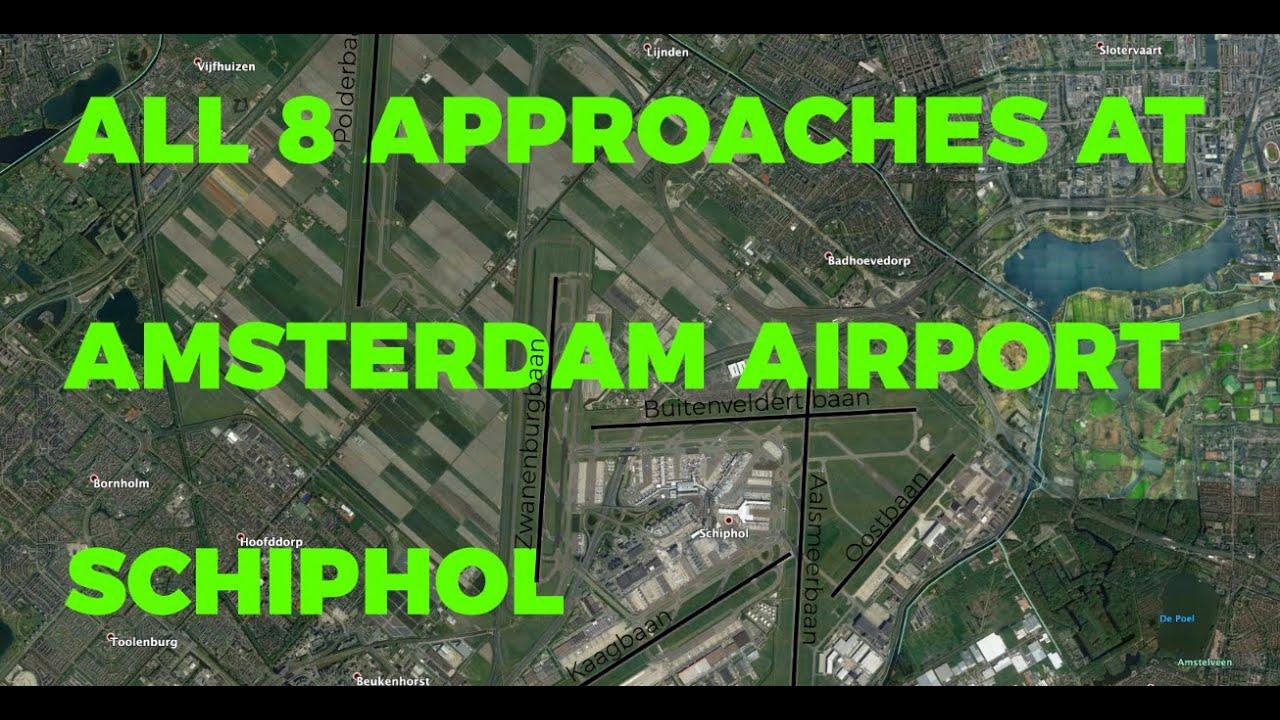 Alle approaches van Schiphol vanuit de cockpit | Video