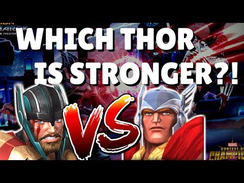 RoL Winter Soldier Takedown Test - Thor (Ragnarok) Vs. Thor (Classic) | Marvel Contest of Champions