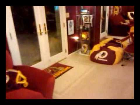 The Quot Supe Cave Quot My Washington Redskins Man Cave Youtube