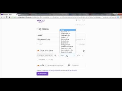 Abrir cuenta de correo Yahoo!