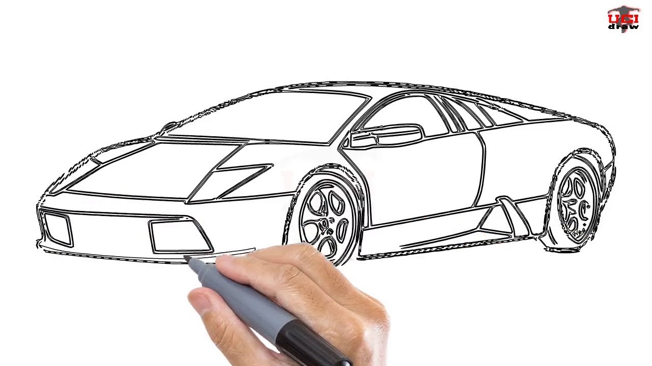 How To Draw A Lamborghini Easy Step By Step Drawing Tutorials For