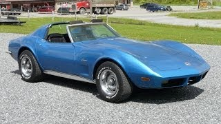 1973 Medium Blue Corvette L82 4spd Stingray T Top For Sale