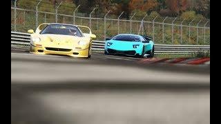 Battle Lamborghini Murcielago LP670-4 vs Ferrari F50 at Nordschleife