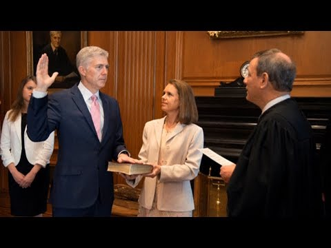 """Dahlia Lithwick: Justice Neil Gorsuch Proving to Be """"Far to the Right"""" of Antonin Scalia"""