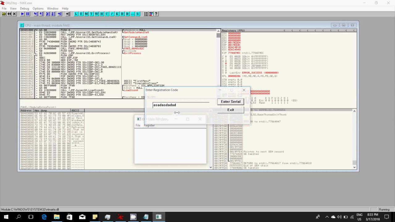 #5  Bypassing conditions using Ollydbg Debugger