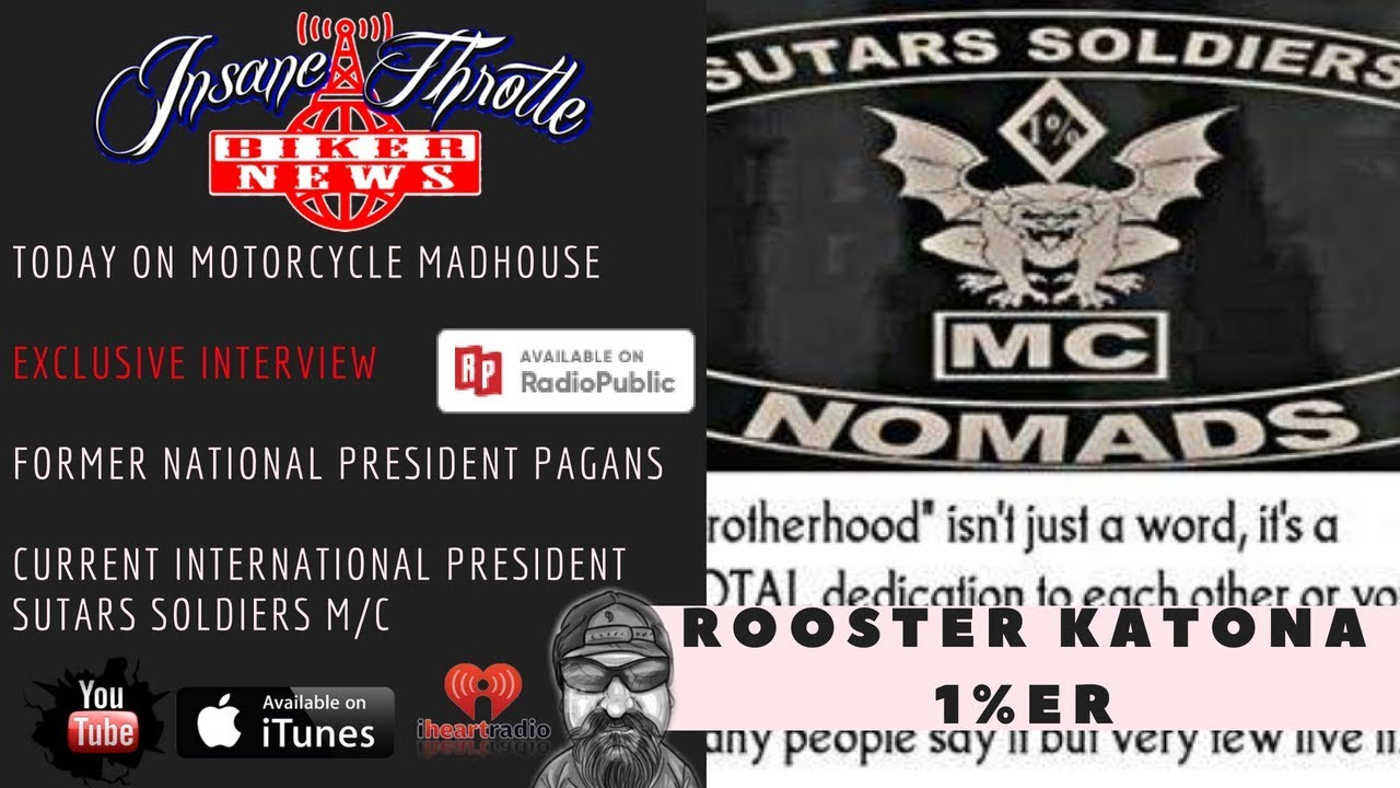 Sutars Soldiers Mc: Rooster Katona Former National President Of Pagans MC