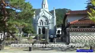 2015.10.25津和野に行ってきました。 「案山子」は津和野城址から見た風...